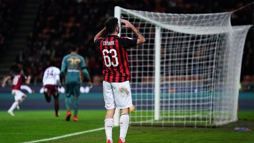 Patrick Cutrone sbaglia il gol della vittoria ©
