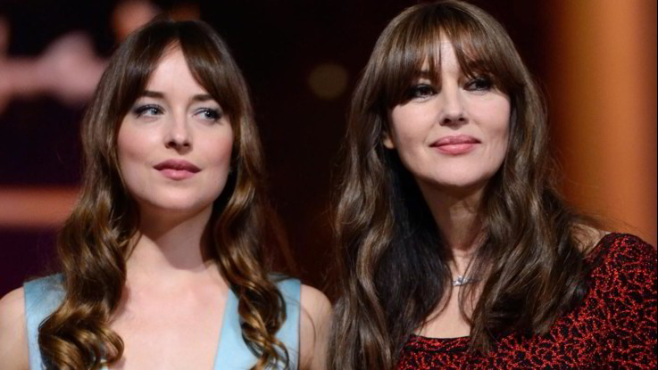 Monica Bellucci e Dakota Johnson, due bellezze a confronto a Marrakech
