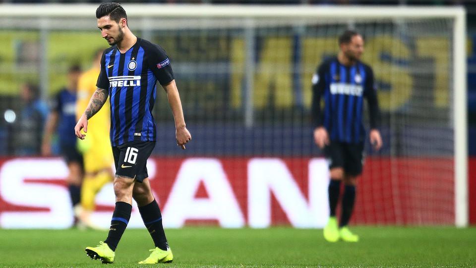 La delusione dei giocatori dell'Inter dopo lo svantaggio ©