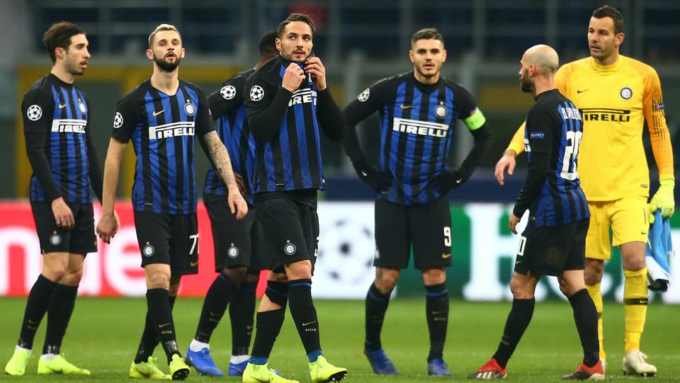 La delusione dell'Inter al fischio finale ©