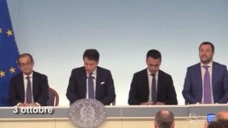 """Deficit al 2,4% """"intoccabile"""": il 'mantra' di Di Maio e Salvini in un blob"""