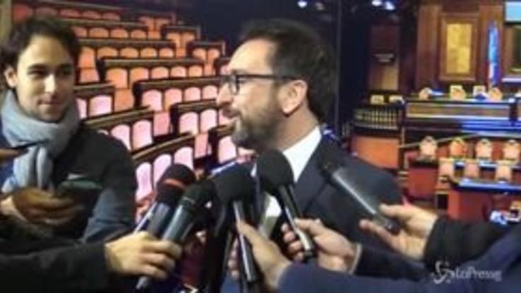 """Ddl anticorruzione, Bonafede: """"È un messaggio ai cittadini onesti"""""""