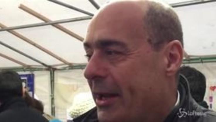 """Zingaretti da Genova: """"Questo governo non ce la fa, il Pd sia l'alternativa """""""