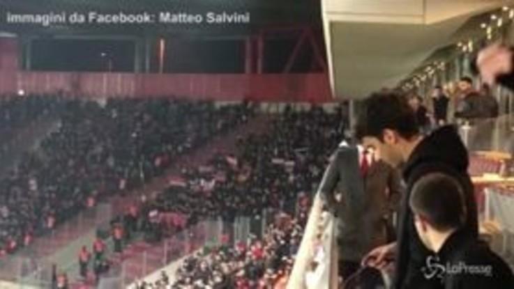 "Atene, Salvini allo stadio: ""Tifosi milanisti eroici"""