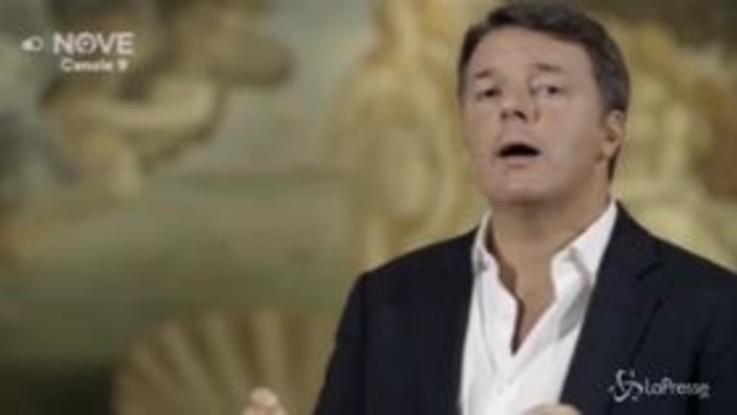 """Renzi: """"La calunnia del Botticelli potremmo definirlo il quadro delle fake news"""""""
