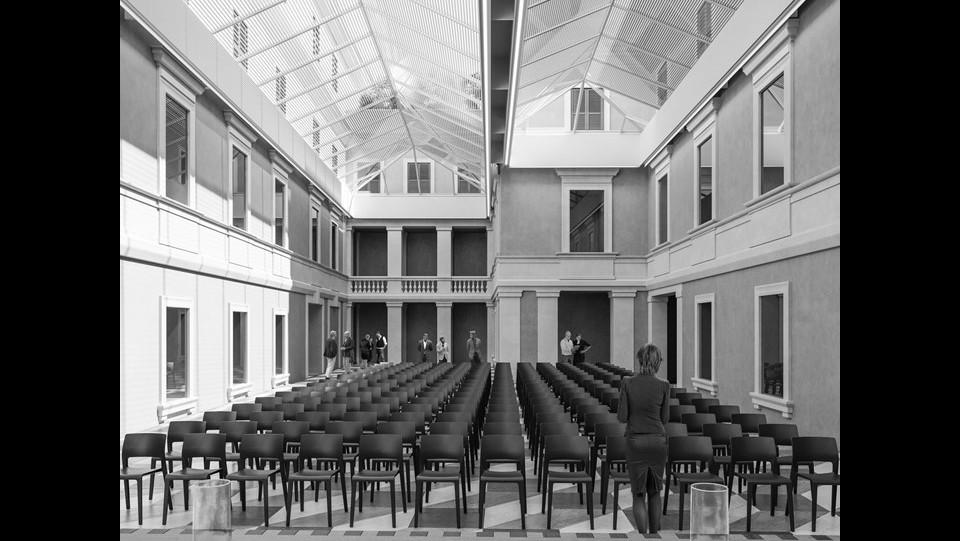 Presentazione del progetto per il nuovo polo bibliotecario e culturale di Palazzo San Felice ©