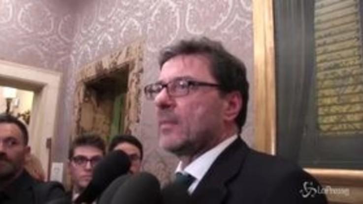 """Manovra, Giorgetti: """"Non cerchiamo lo scontro, difendiamo interesse italiani"""""""