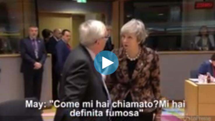 "Brexit, lite May-Juncker: ""Mi hai definita 'fumosa'?"""