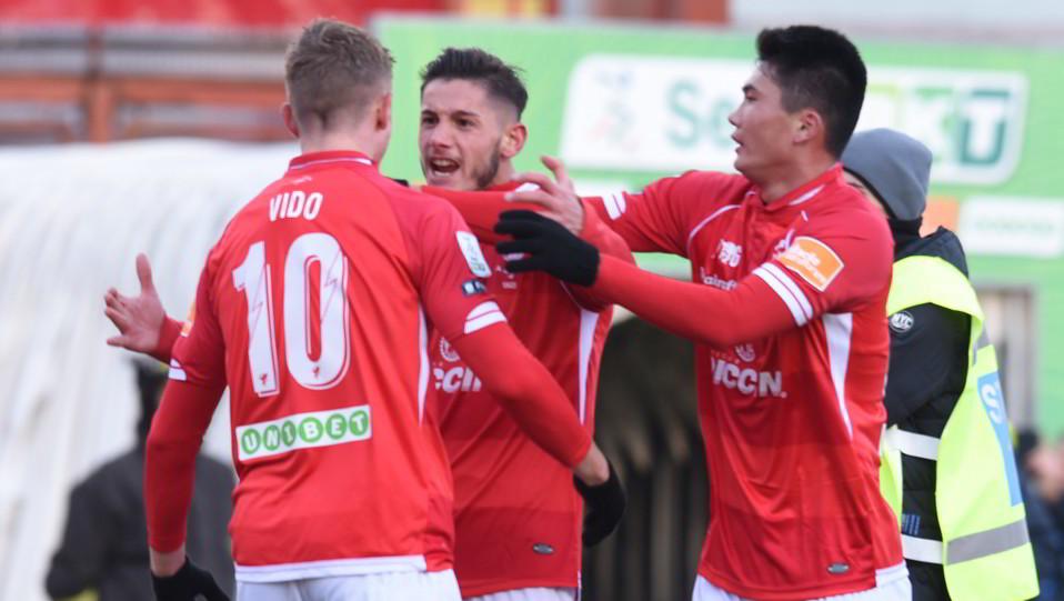 Perugia-Spezia 1-1. Il gol del vantaggio di Vido ©