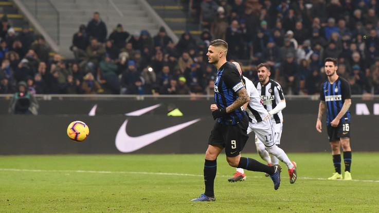 Serie A, l'Inter si rialza dopo la Champions: il 'cucchiaio' di Icardi piega l'Udinese 1-0