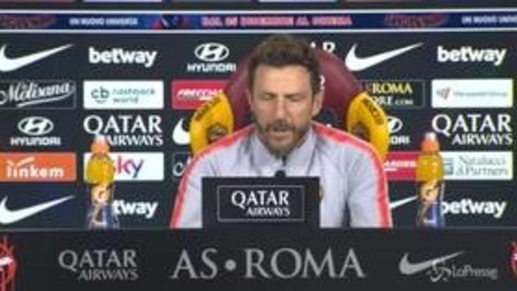 """Roma, Di Francesco: """"Passo indietro? Non sono abituato a scappare"""""""