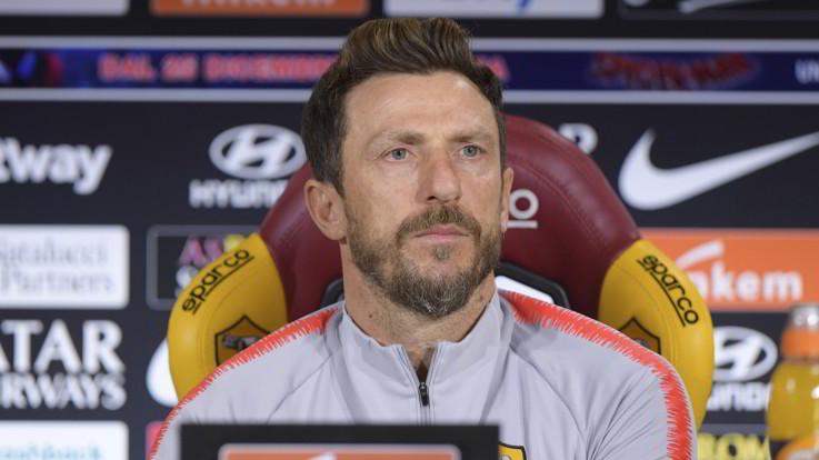 """Roma, Di Francesco: """"Non scappo, contro il Genoa per la ripartenza"""""""
