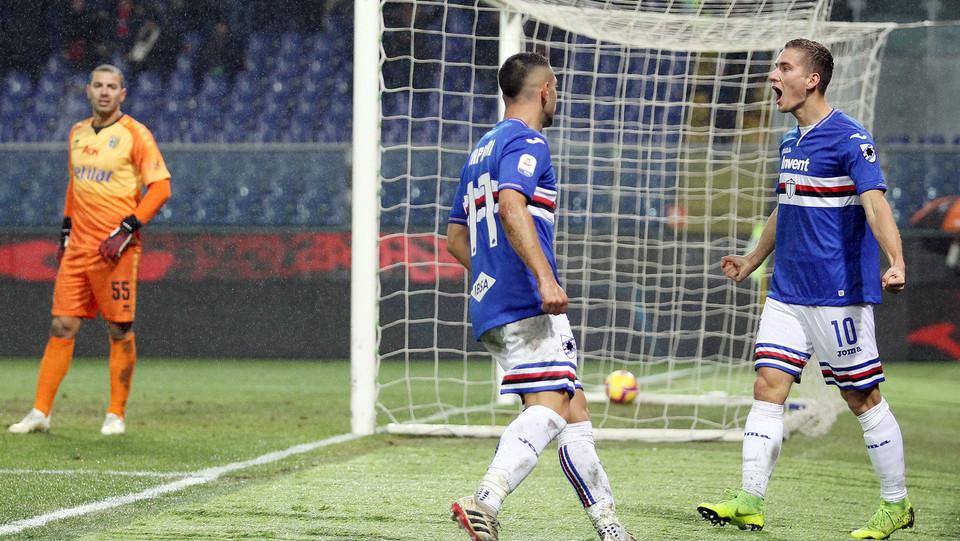 Caprari sblocca il risultato: 1-0 per la Sampdoria ©