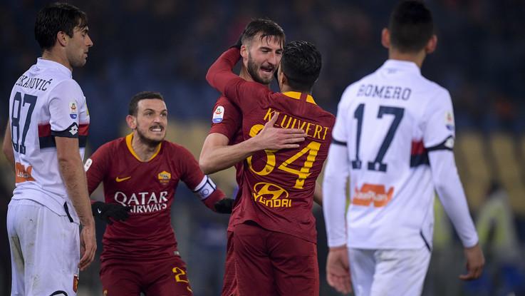 Serie A, Roma supera Genoa 3-2 in rimonta: Cristante salva Di Francesco