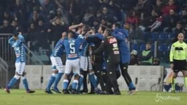 Serie A, vincono Napoli e Roma: i giallorossi soffrono ma fanno risultato