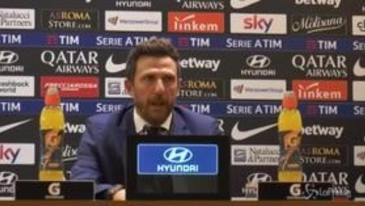 """Roma-Genoa 3-2, Di Francesco: """"Io sono sereno ma le valutazioni spettano ad altri"""""""