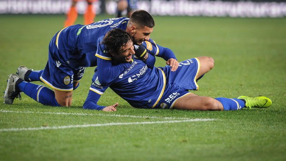 Verona-Pescara 3-1. Danzi apre le marcature per i padroni di casa ©