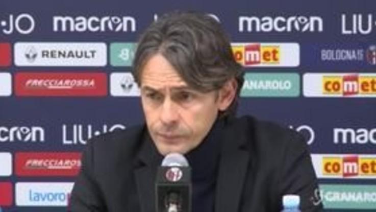 """Serie a Bologna-Milan 0-0, Inzaghi: """"C'è rammarico ma la squadra è stata straordinaria"""""""