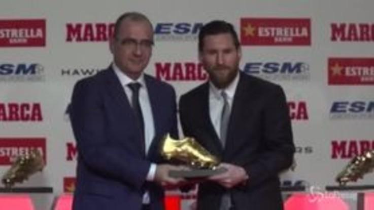 La BarcellonaMessi D'oroSuperato Fa Scarpa Sua Ronaldo Quinta vwN08Omn