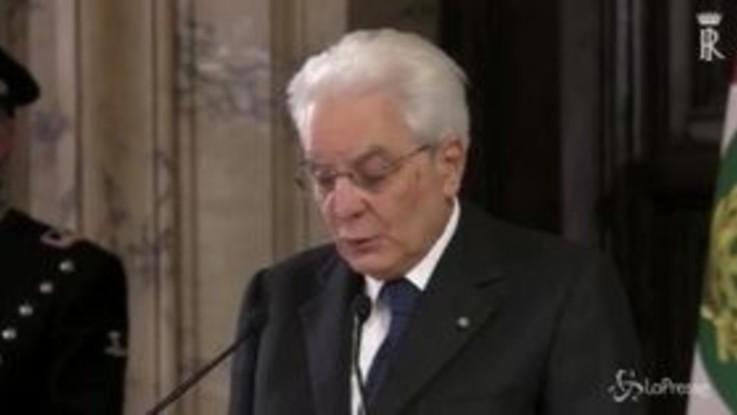 """Manovra, Mattarella: """"Bene dialogo con Ue"""""""