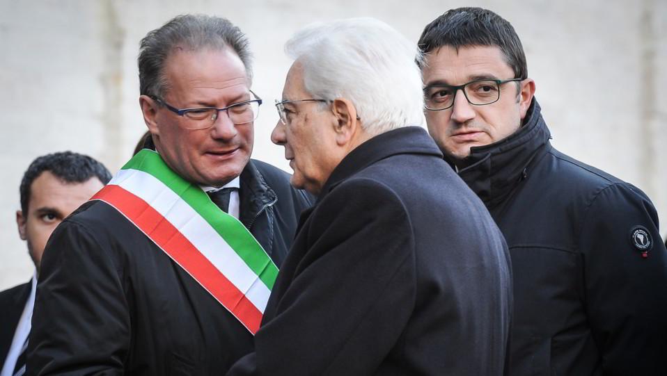 Il presidente Mattarella saluta il sindaco di Trento Andreatta ©