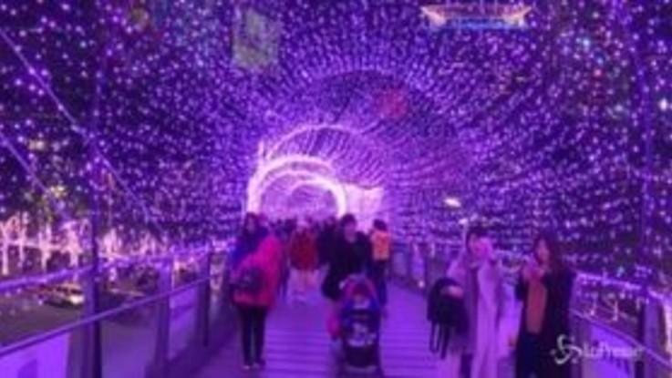Taiwan, 100 mila luci a led per Natale