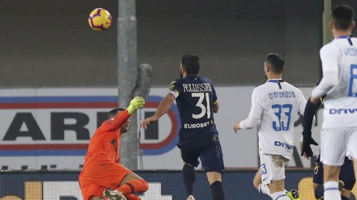Serie A, Pellissier immortale replica a Perisic: Chievo-Inter 1-1