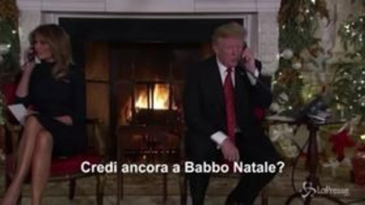 """Trump 'smonta' un bambino di 7 anni: """"Ma credi ancora a Babbo Natale?"""""""