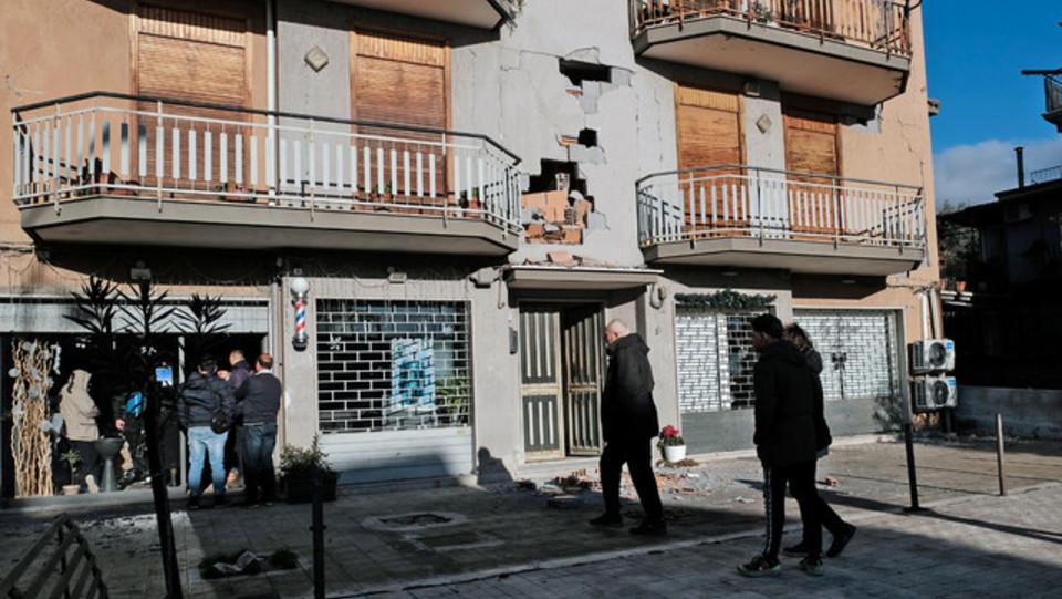 Le abitazioni danneggiate a Zafferana Etnea ©