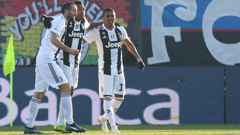 La Juve esulta dopo l'autogol dell'Atalanta ©