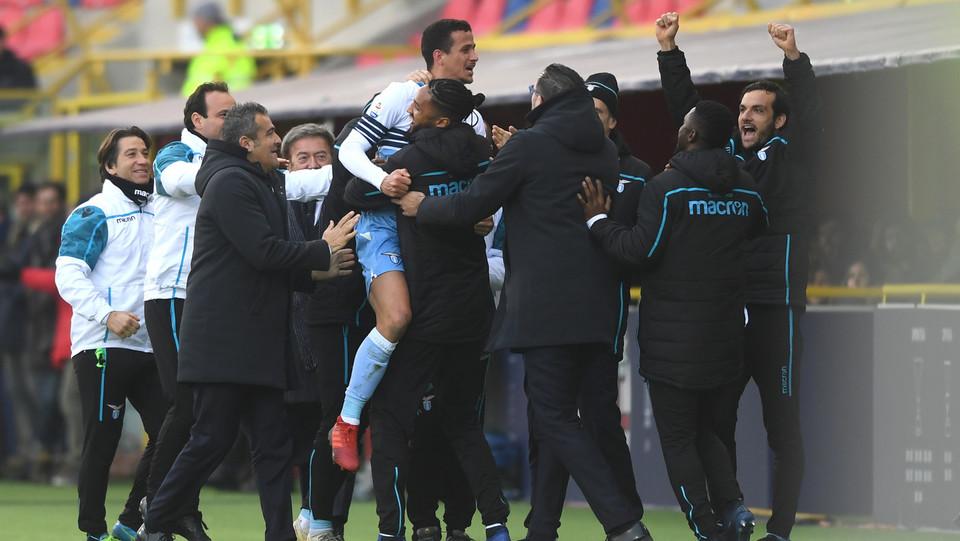 La festa della Lazio per il gol di Luiz Felipe ©