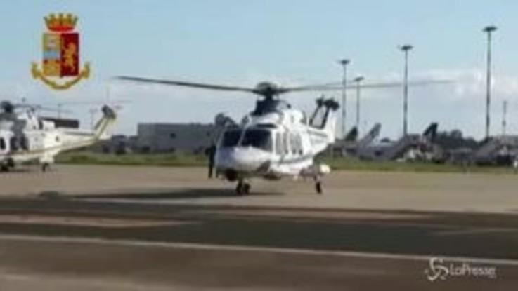 Terremoto nel Catanese, l'elicottero della polizia in ricognizione sulle aree colpite