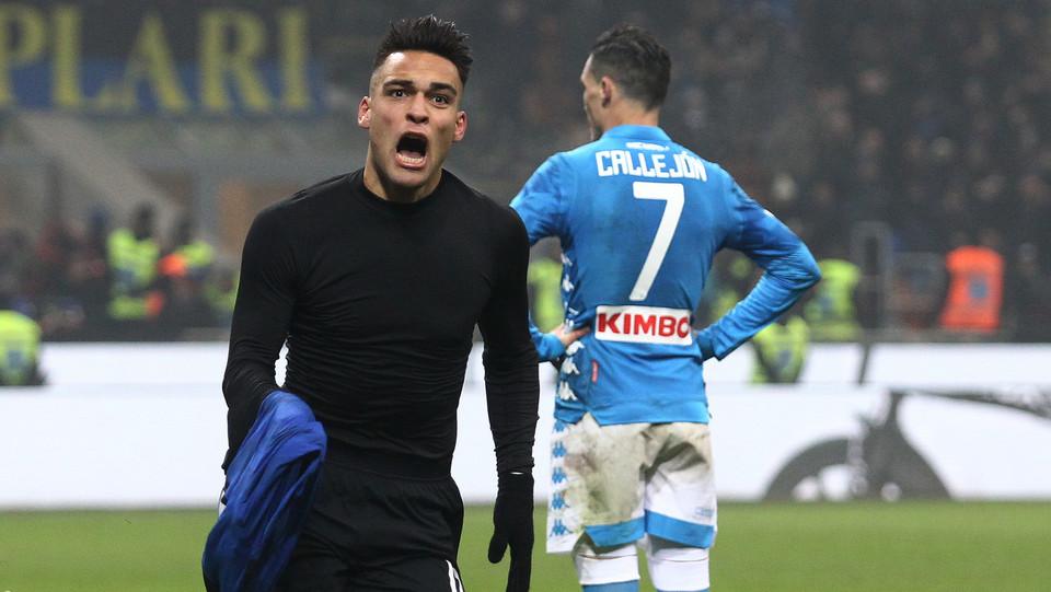 Esplode di gioia Martinez per il gol del vantaggio ©