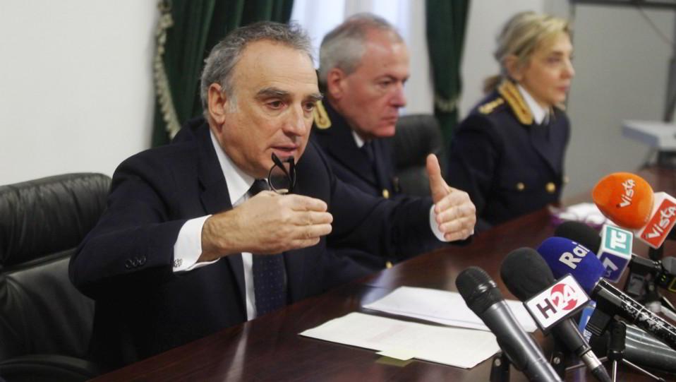 Il questore Marcello Cardona durante la conferenza stampa il giorno dopo Inter-Napoli ©