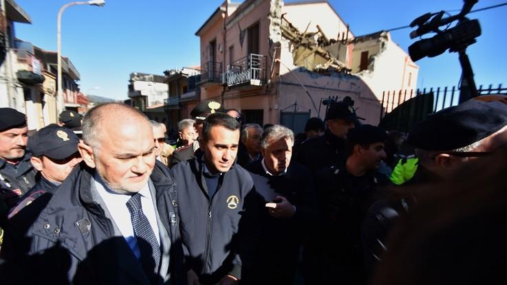 """Terremoto, Di Maio e Salvini a Catania: """"Dichiareremo lo stato di emergenza"""""""