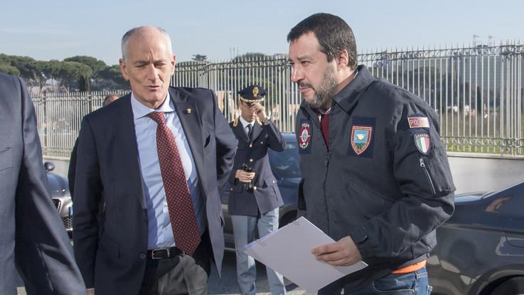 """Salvini: """"No a fermare il campionato. Ma stop alle notturne a rischio"""""""