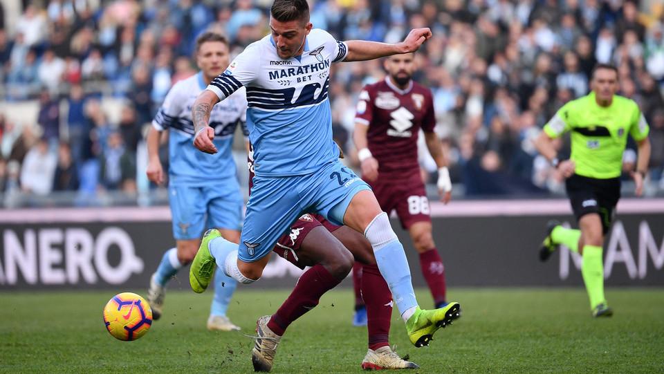 Milinkovic-Savic (Lazio) segna il gol del pareggio ©