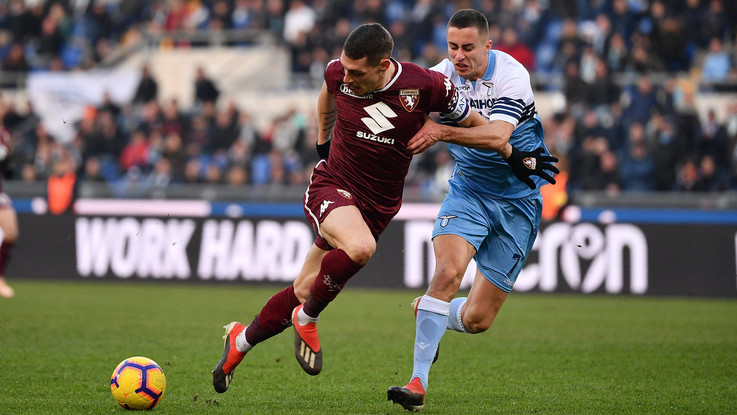 Milinkovic replica a Belotti: Lazio-Toro 1-1 all'Olimpico