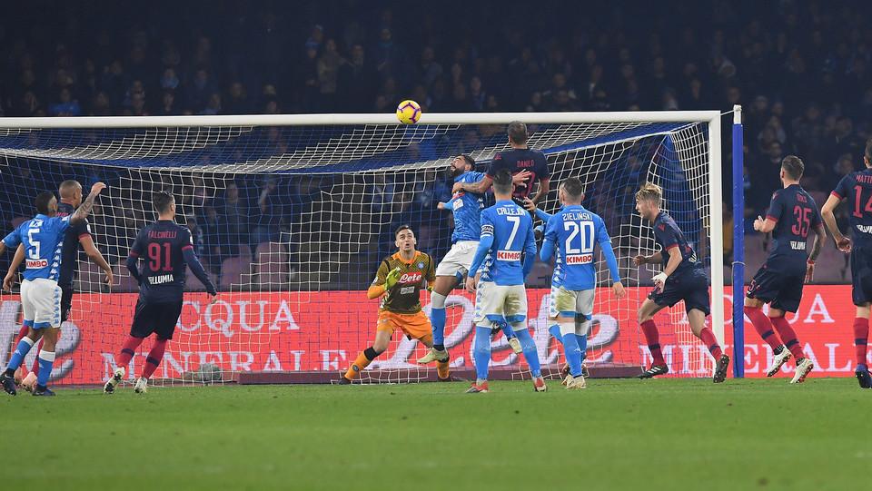 Il gol di Danilo (Bologna) ristabilisce la parità, 2-2 ©