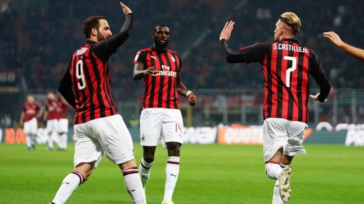 Serie A, Milan-Spal 2-1: Higuain si sblocca, Castillejo replica a Petagna. Gattuso è salvo