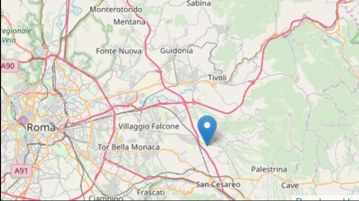 Terremoto di magnitudo 3,2 a Gallicano poco a est da Roma