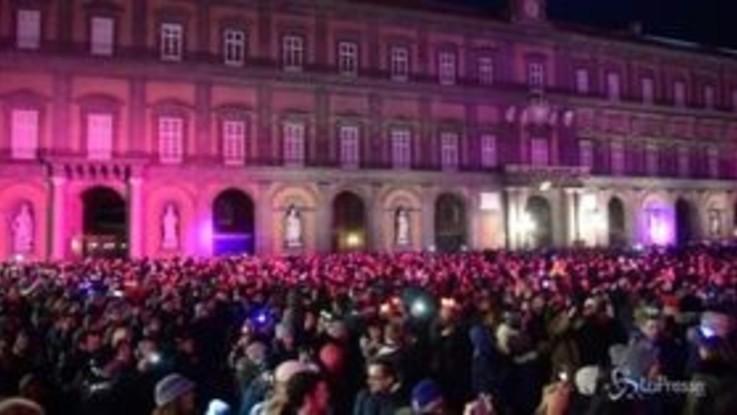 Napoli, il Capodanno in piazza del Plebiscito