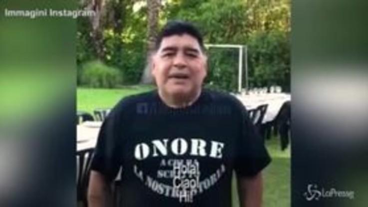 Diego Maradona, gli auguri (commossi) di buon anno