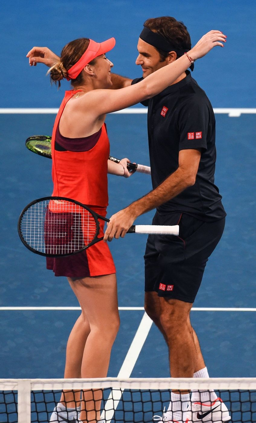 Federer contro Serena Williams, grande show e selfie storico