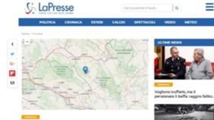 Forte scossa nell'aquilano, paura in tutto il centro Italia ma nessun danno