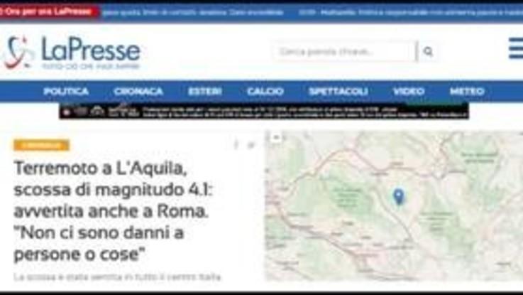 Terremoto a L'Aquila, tanta paura ma nessun ferito