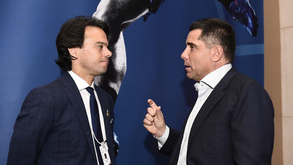 Tommaso Bendoni, Riccardo Silva (Presidente Globe Soccer Awards) ©