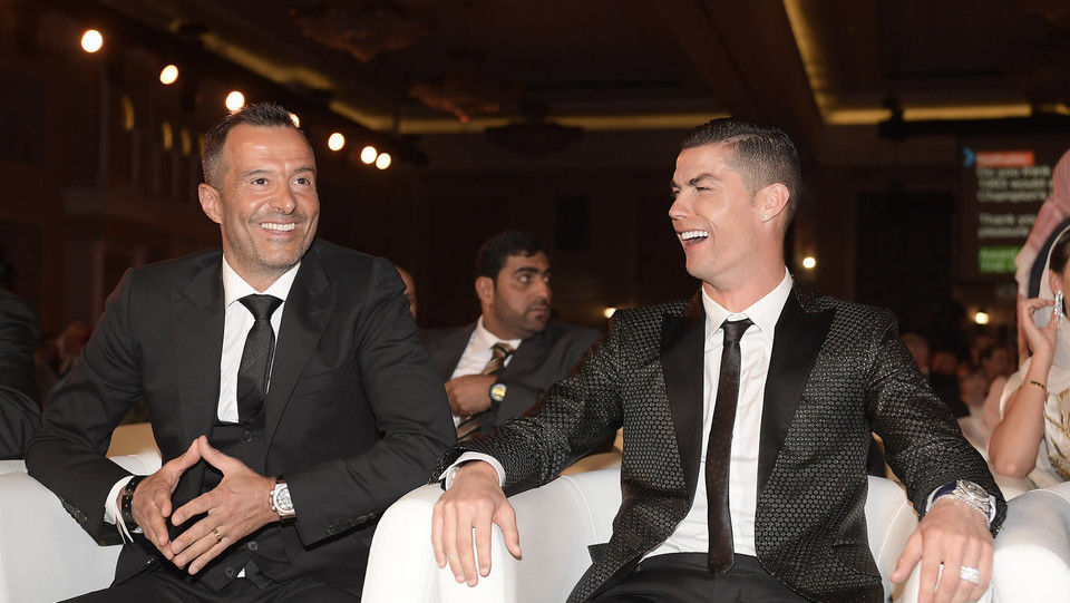 Cristiano Ronaldo e Jorge Mendes ©