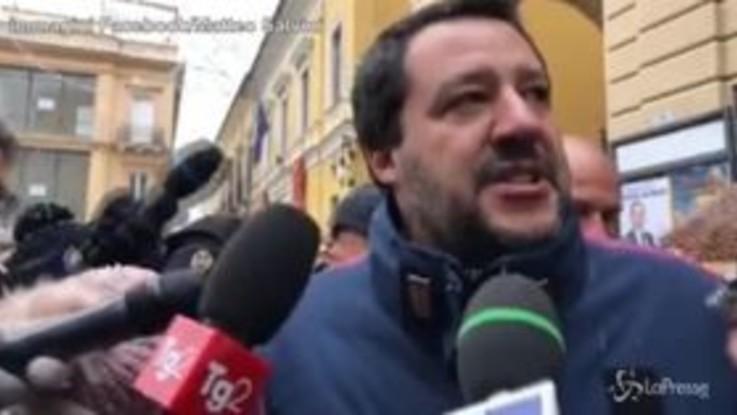 """Salvini a Chieti: """"Siamo qui per rilanciare l'Abruzzo"""""""