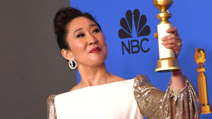 Golden Globes, vince Sandra Oh: l'esultanza del papà per tutti i record raggiunti